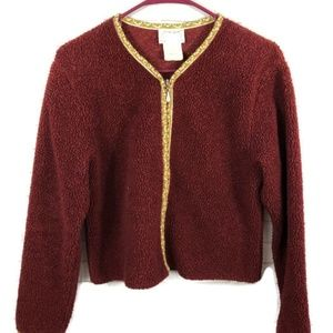 VINTAGE FREE PEOPLE Zip Cardigan Sweater M